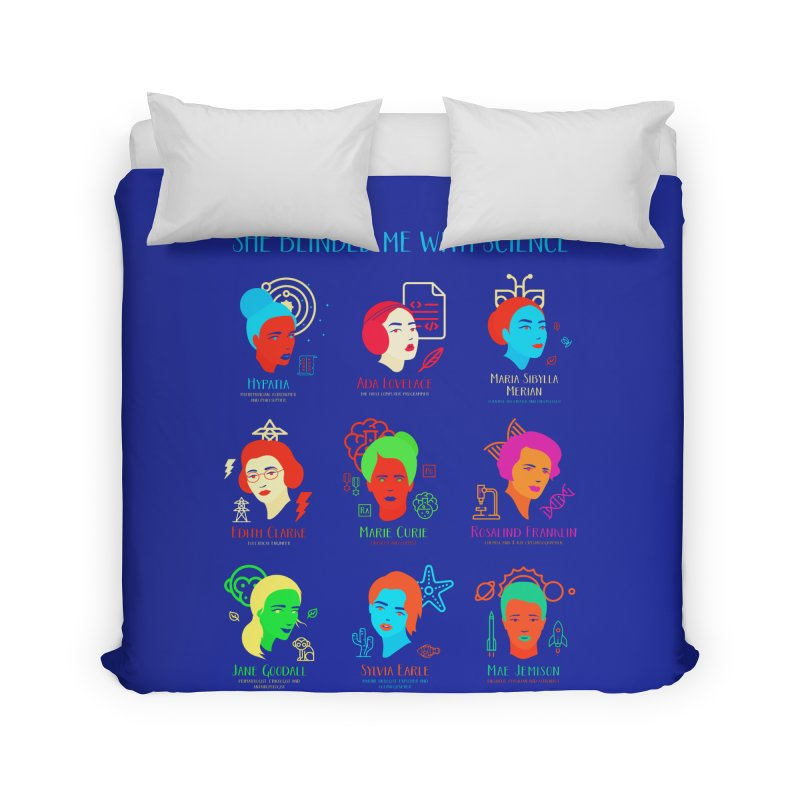 She Blinded Me With Science Home Duvet by Jana Artist Shop