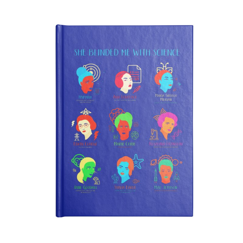 She Blinded Me With Science Accessories Notebook by Jana Artist Shop