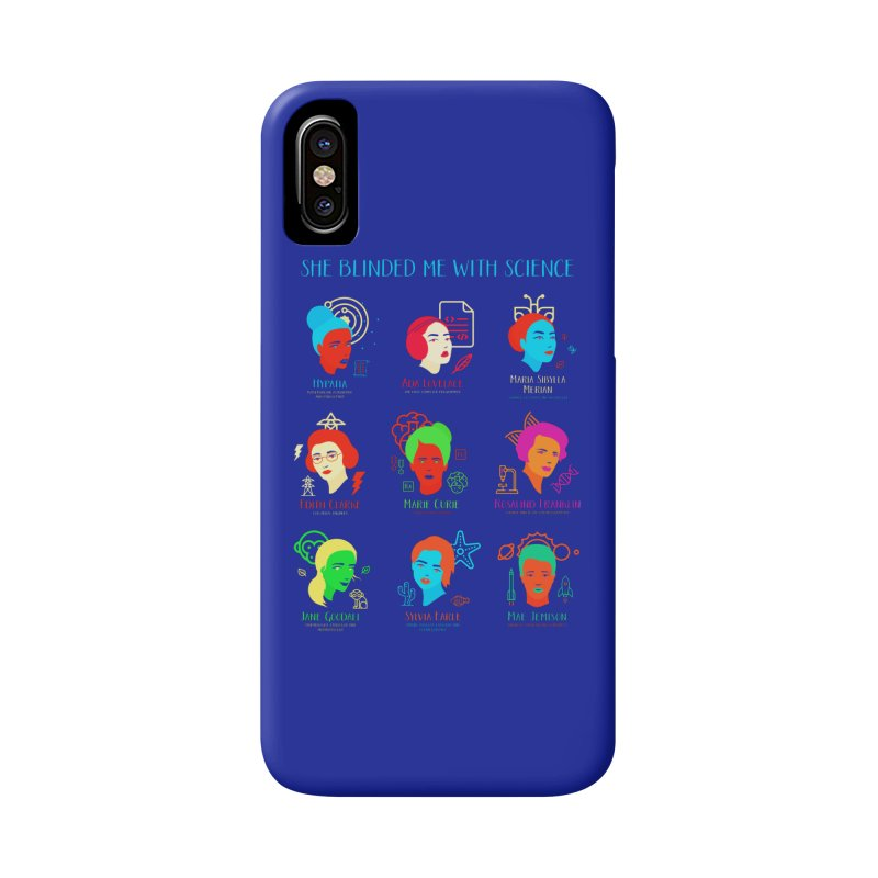 She Blinded Me With Science Accessories Phone Case by Jana Artist Shop
