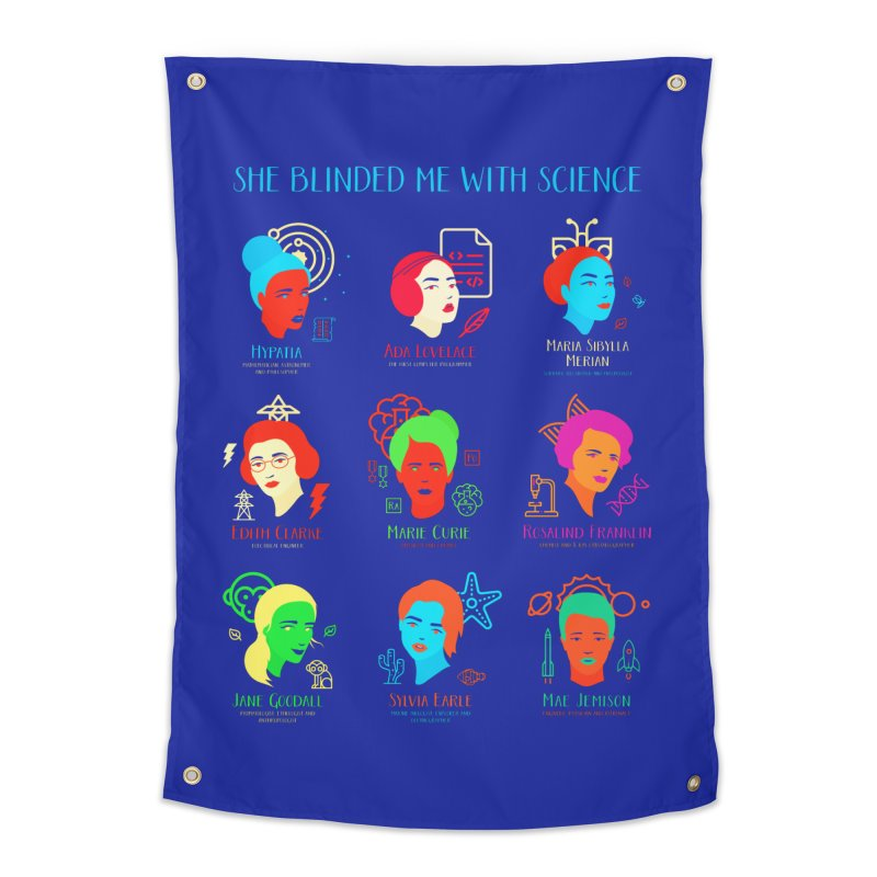 She Blinded Me With Science Home Tapestry by Jana Artist Shop