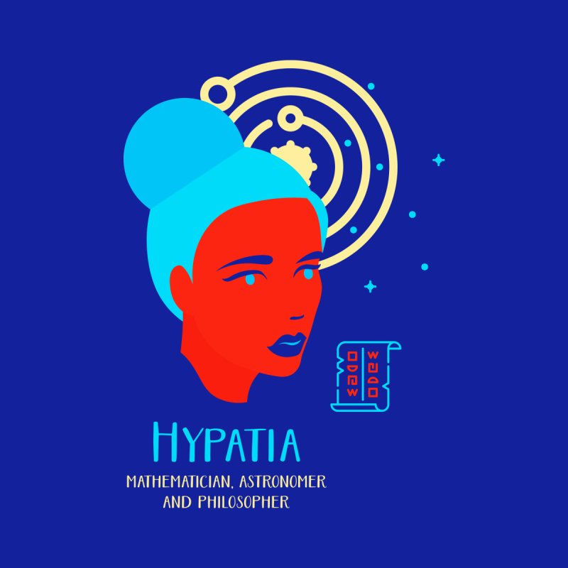 Hypatia Home Mounted Aluminum Print by Jana Artist Shop