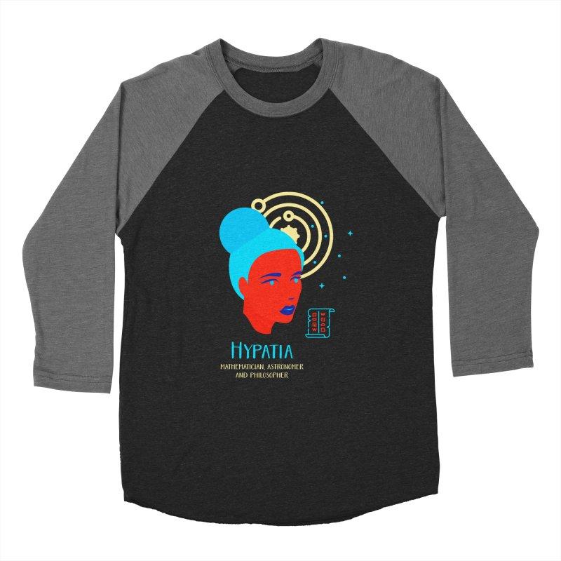 Hypatia Women's Baseball Triblend Longsleeve T-Shirt by Jana Artist Shop