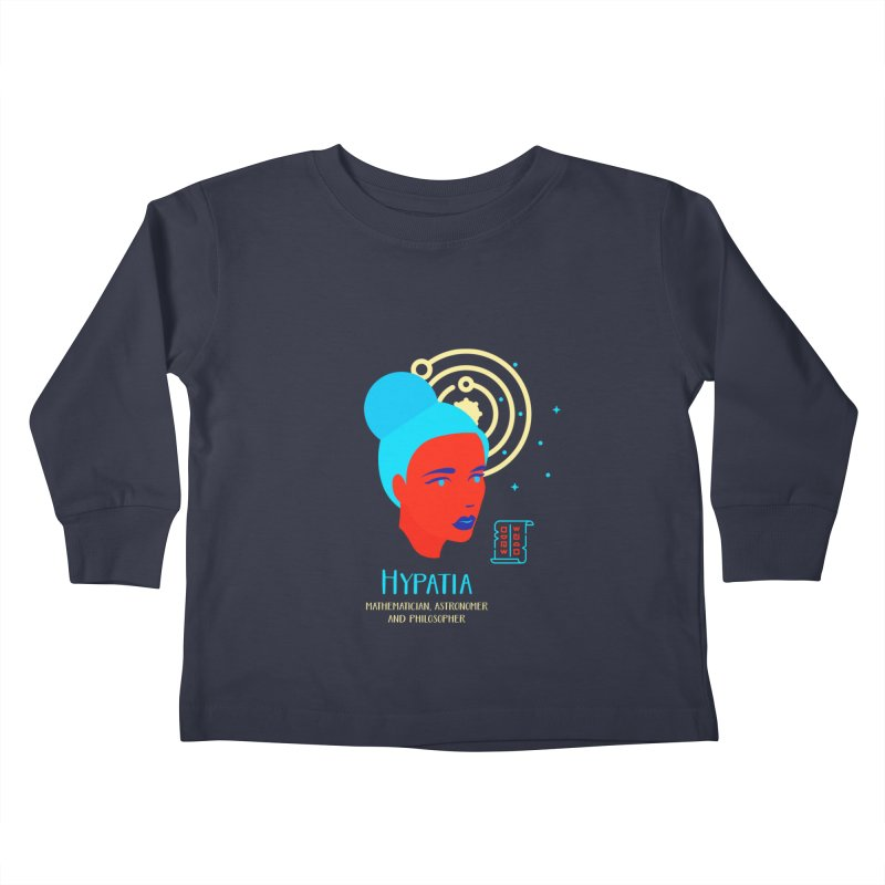Hypatia Kids Toddler Longsleeve T-Shirt by Jana Artist Shop