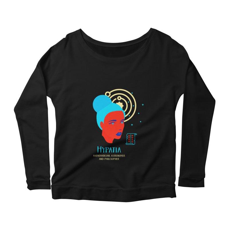 Hypatia Women's Scoop Neck Longsleeve T-Shirt by Jana Artist Shop