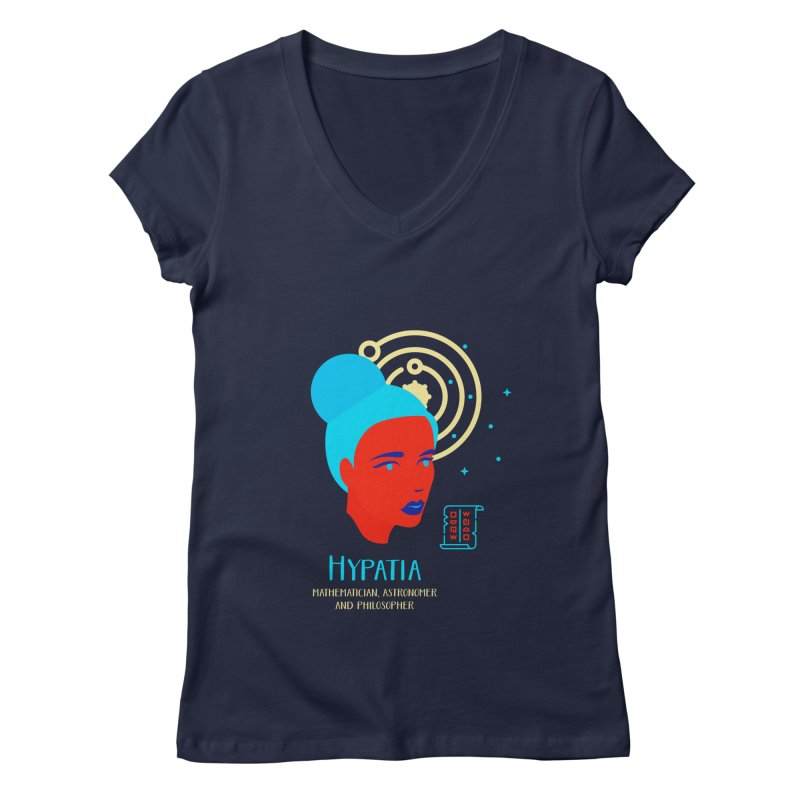 Hypatia Women's V-Neck by Jana Artist Shop