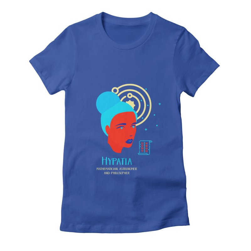 Hypatia Women's Fitted T-Shirt by Jana Artist Shop
