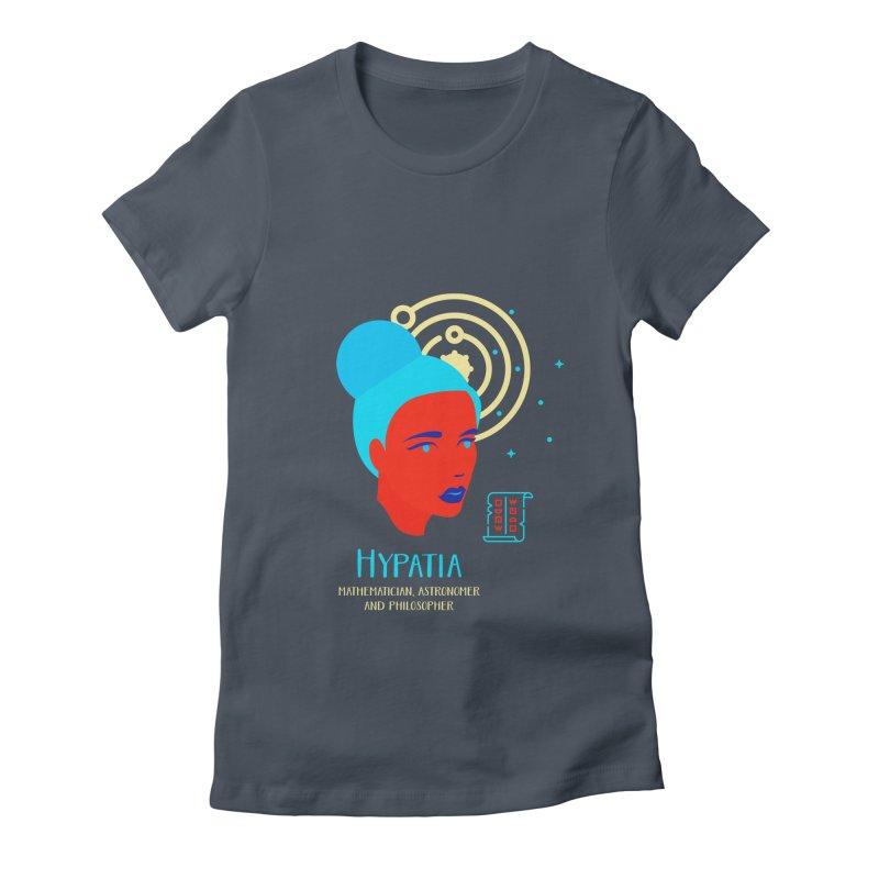 Hypatia Women's Fitted T-Shirt by Jana Artist Shop