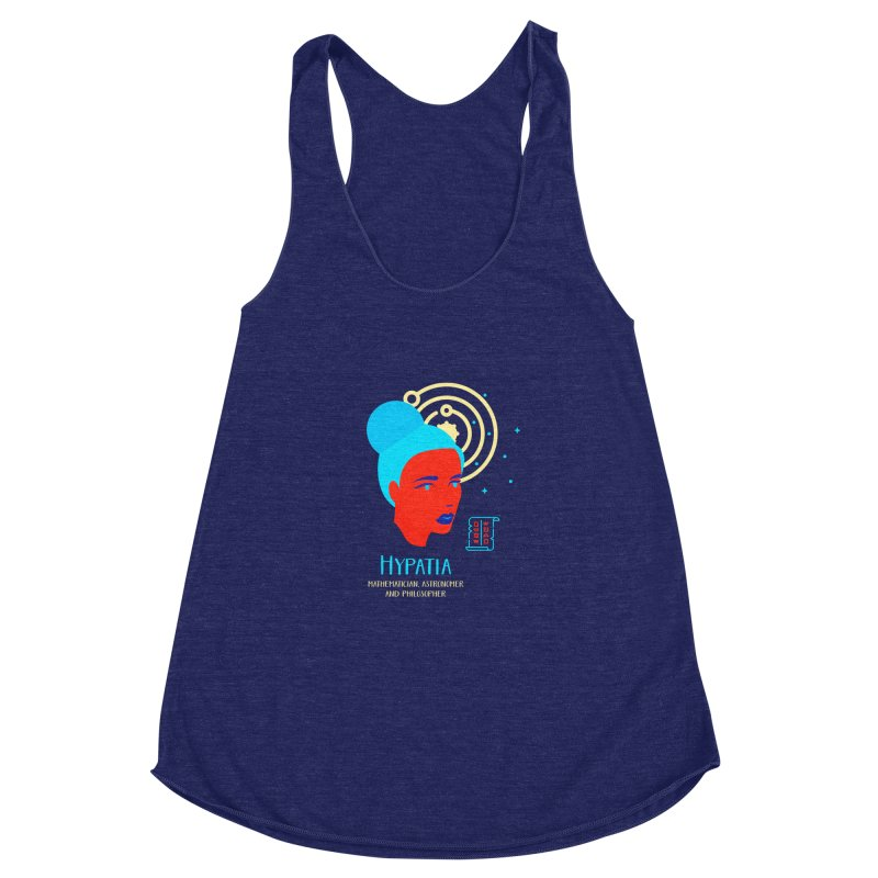 Hypatia Women's Racerback Triblend Tank by Jana Artist Shop