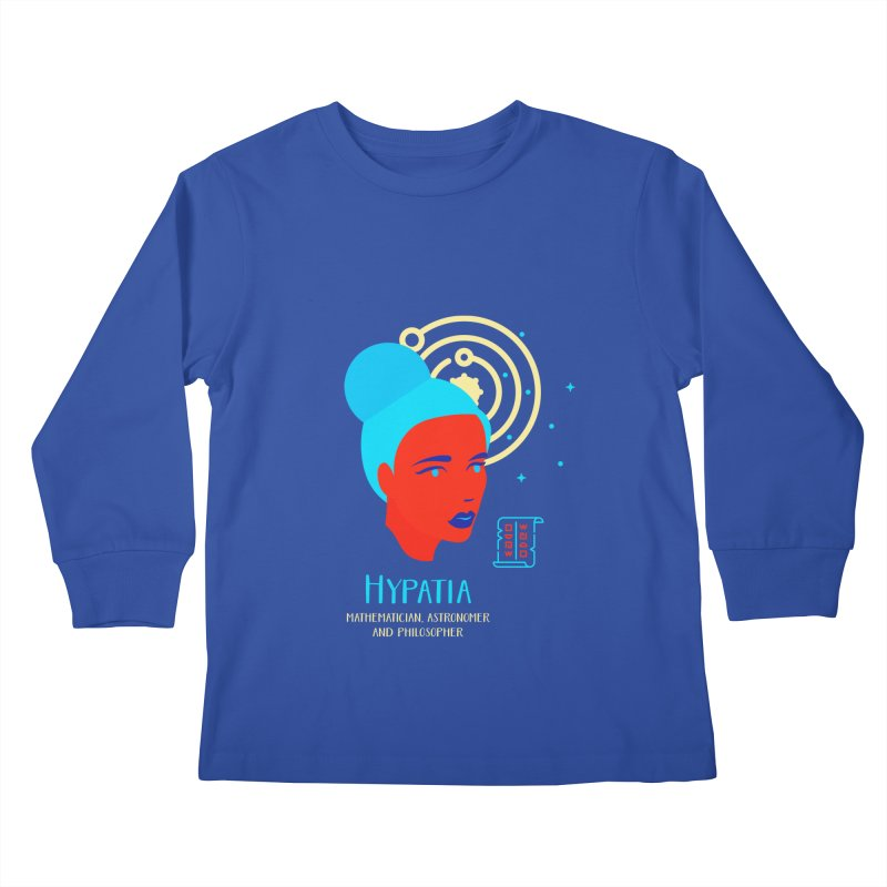 Hypatia Kids Longsleeve T-Shirt by Jana Artist Shop