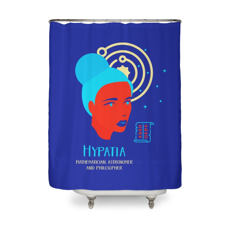Hypatia Home Shower Curtain by Jana Artist Shop
