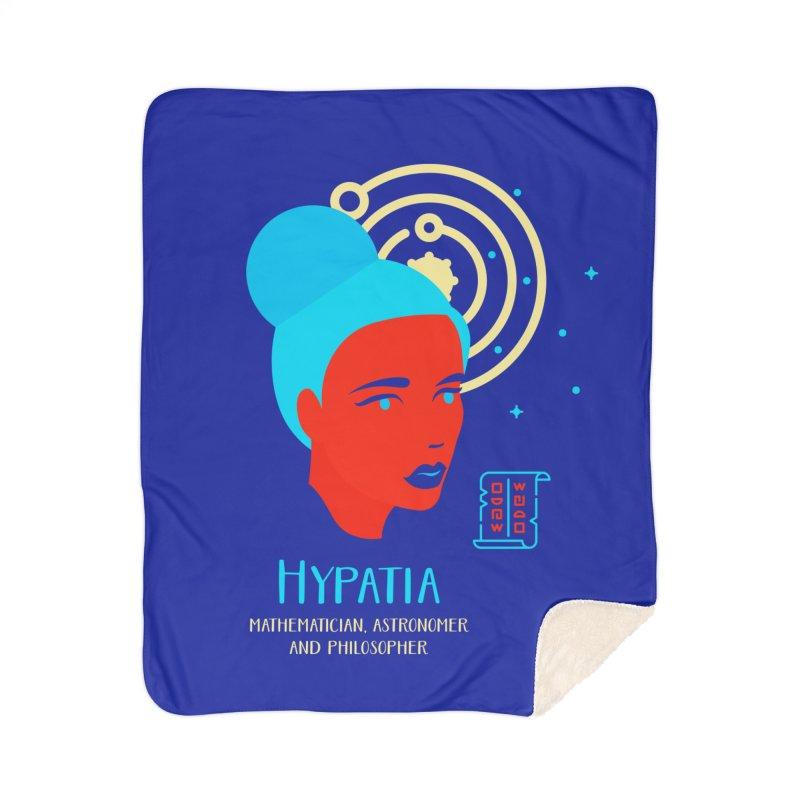 Hypatia Home Sherpa Blanket Blanket by Jana Artist Shop
