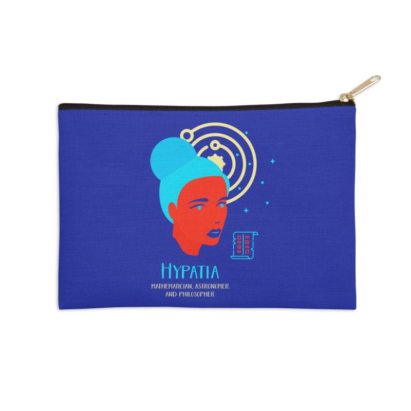 Hypatia Accessories Zip Pouch by Jana Artist Shop