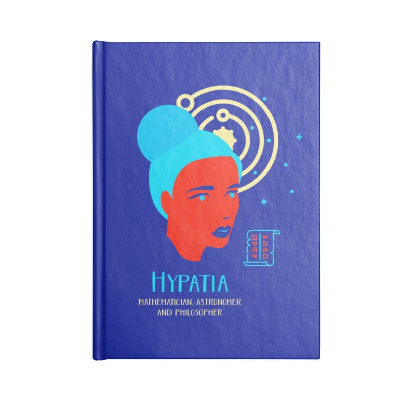 Hypatia Accessories Lined Journal Notebook by Jana Artist Shop