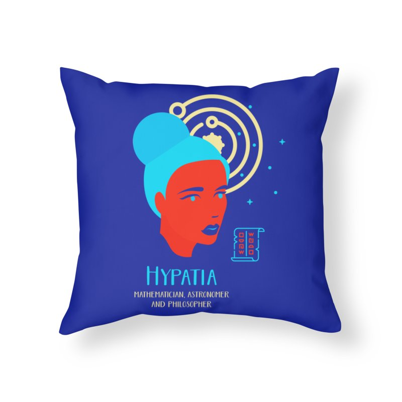 Hypatia Home Throw Pillow by Jana Artist Shop