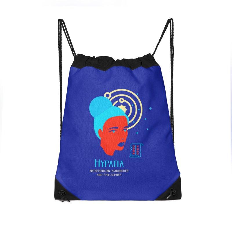 Hypatia Accessories Drawstring Bag Bag by Jana Artist Shop