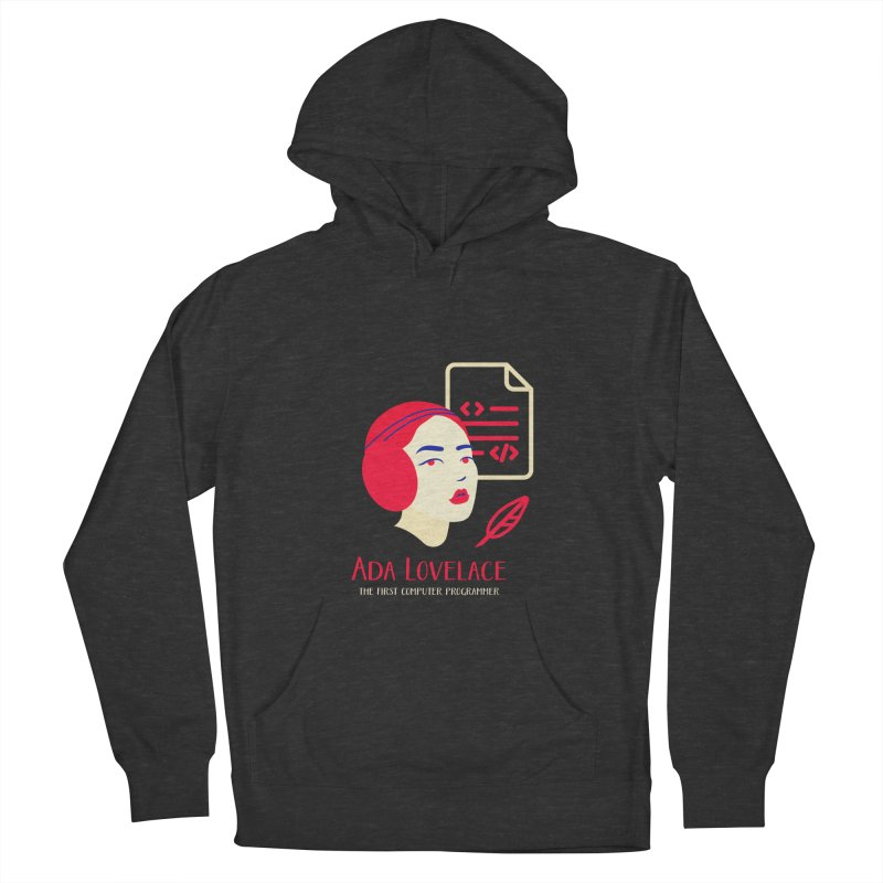 Ada Lovelace Women's French Terry Pullover Hoody by Jana Artist Shop