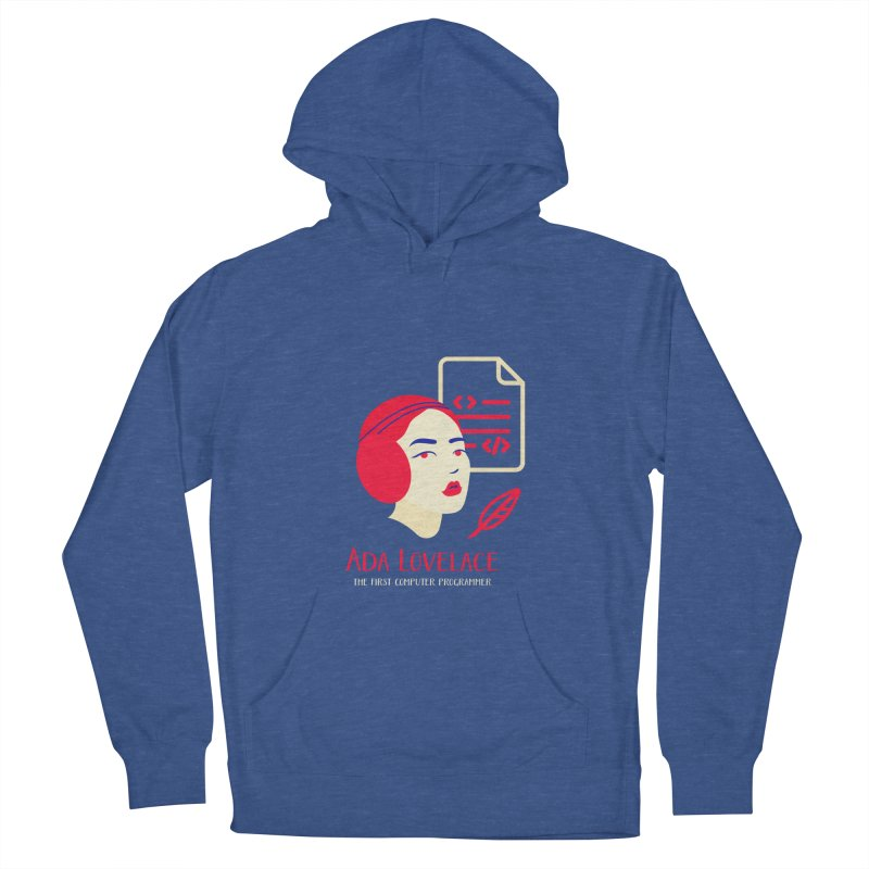 Ada Lovelace Men's French Terry Pullover Hoody by Jana Artist Shop