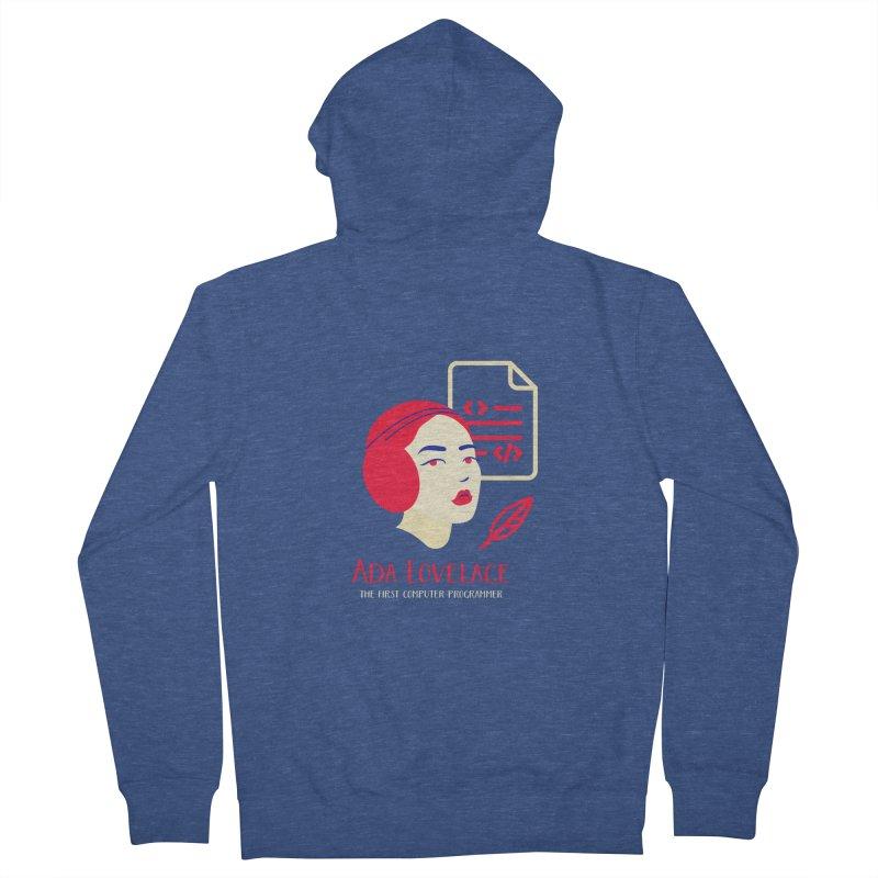 Ada Lovelace Women's French Terry Zip-Up Hoody by Jana Artist Shop