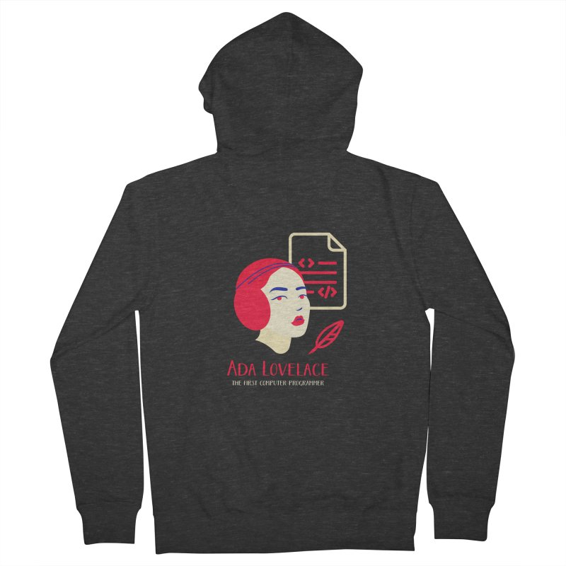 Ada Lovelace Men's Zip-Up Hoody by Jana Artist Shop