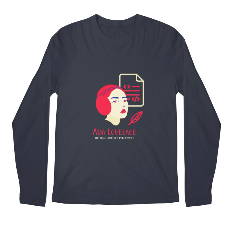 Ada Lovelace Men's Regular Longsleeve T-Shirt by Jana Artist Shop
