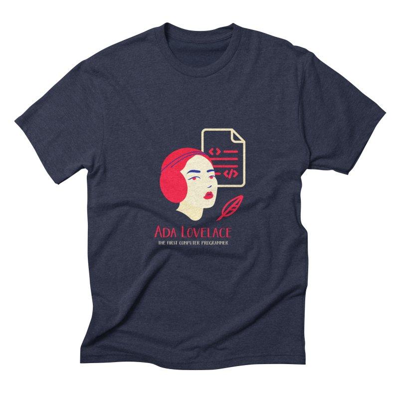 Ada Lovelace Men's Triblend T-Shirt by Jana Artist Shop
