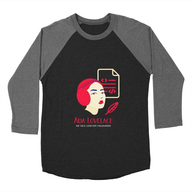 Ada Lovelace Women's Baseball Triblend Longsleeve T-Shirt by Jana Artist Shop