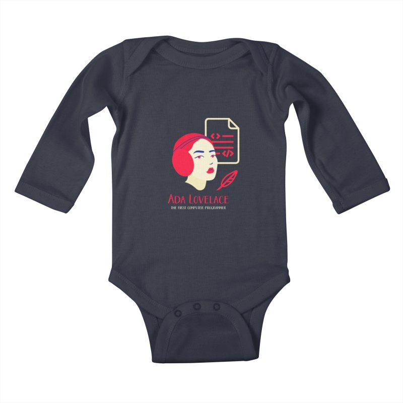 Ada Lovelace Kids Baby Longsleeve Bodysuit by Jana Artist Shop