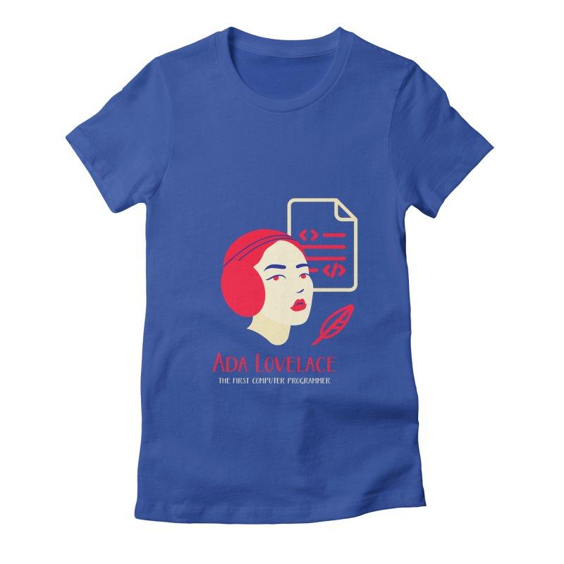 Ada Lovelace Women's Fitted T-Shirt by Jana Artist Shop