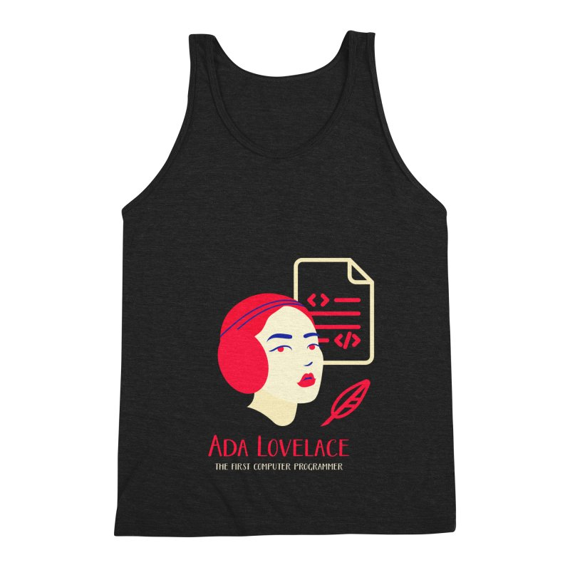 Ada Lovelace Men's Triblend Tank by Jana Artist Shop