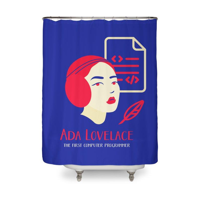 Ada Lovelace Home Shower Curtain by Jana Artist Shop