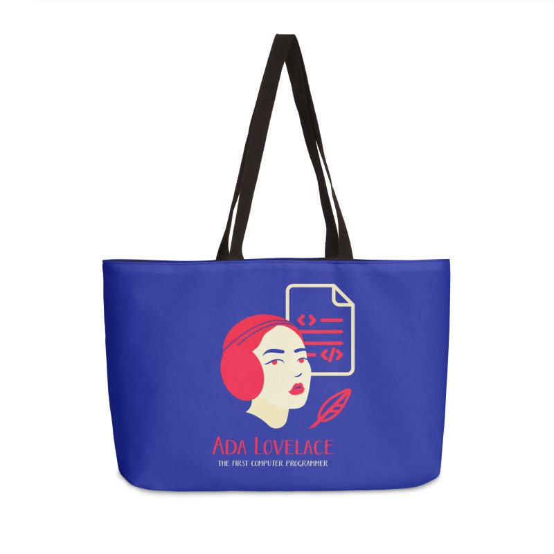 Ada Lovelace Accessories Weekender Bag Bag by Jana Artist Shop