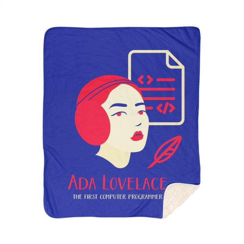 Ada Lovelace Home Sherpa Blanket Blanket by Jana Artist Shop