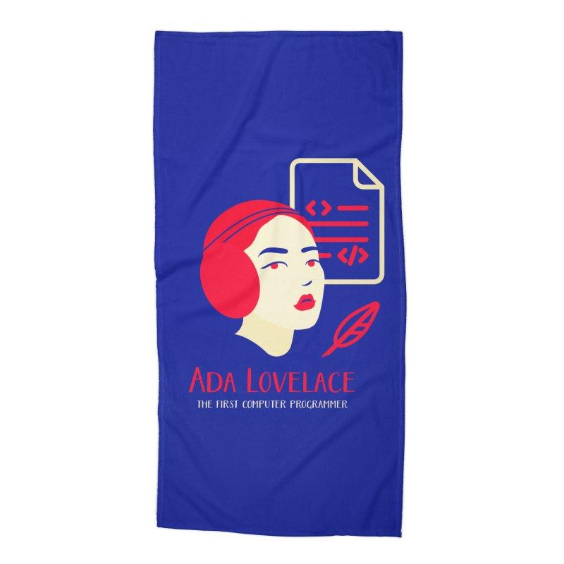 Ada Lovelace Accessories Beach Towel by Jana Artist Shop