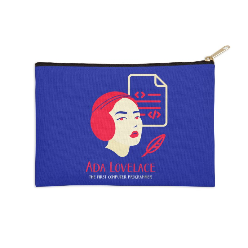 Ada Lovelace Accessories Zip Pouch by Jana Artist Shop
