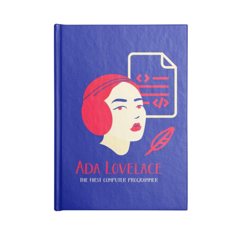Ada Lovelace Accessories Blank Journal Notebook by Jana Artist Shop
