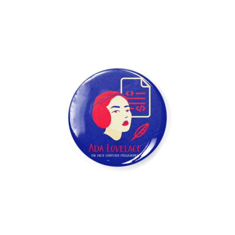 Ada Lovelace Accessories Button by Jana Artist Shop