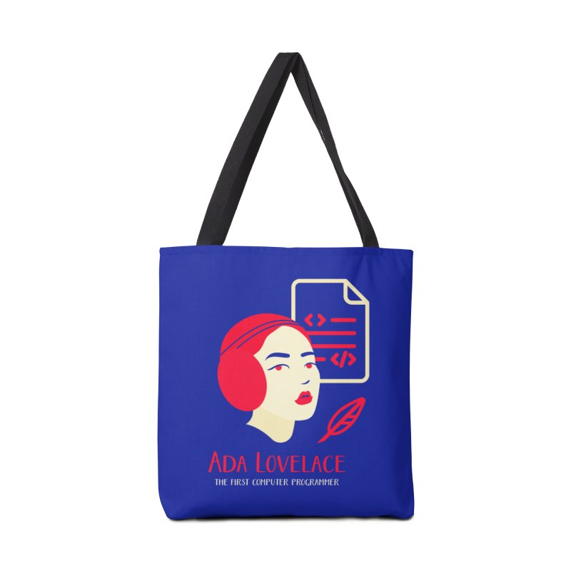 Ada Lovelace Accessories Tote Bag Bag by Jana Artist Shop