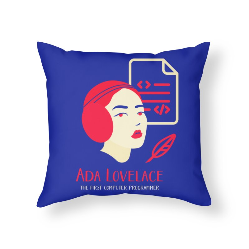 Ada Lovelace Home Throw Pillow by Jana Artist Shop