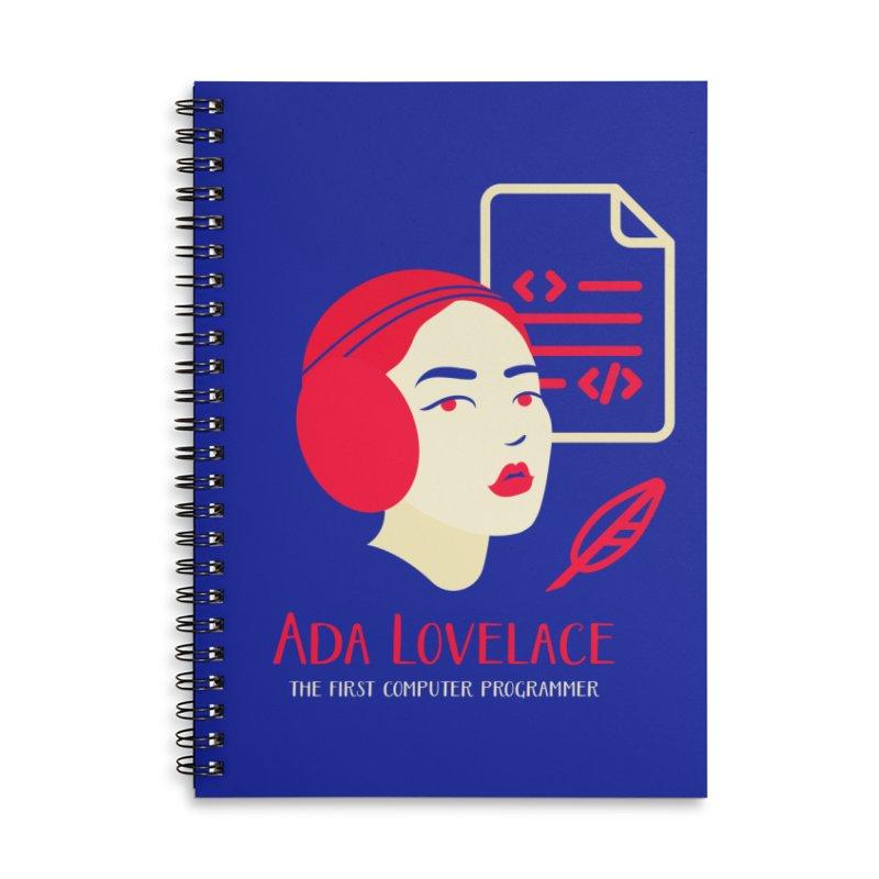 Ada Lovelace Accessories Lined Spiral Notebook by Jana Artist Shop