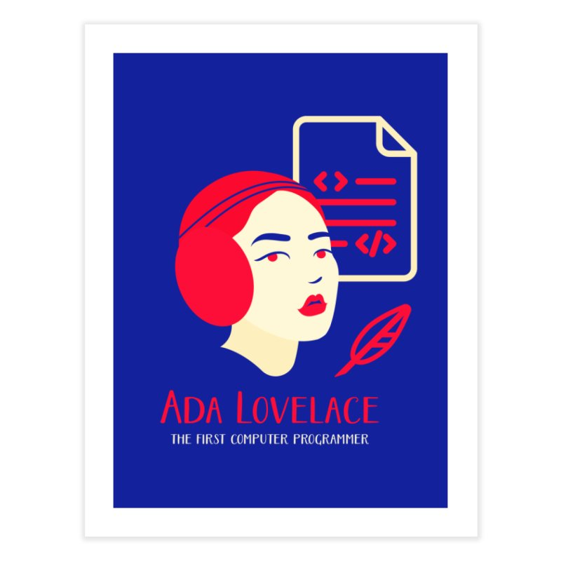 Ada Lovelace Home Bath Mat by Jana Artist Shop