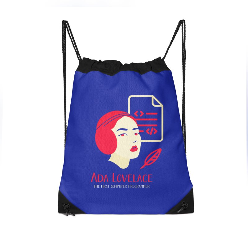Ada Lovelace Accessories Drawstring Bag Bag by Jana Artist Shop