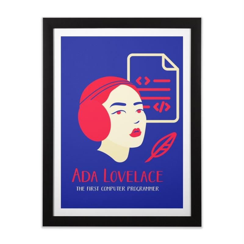 Ada Lovelace Home Framed Fine Art Print by Jana Artist Shop