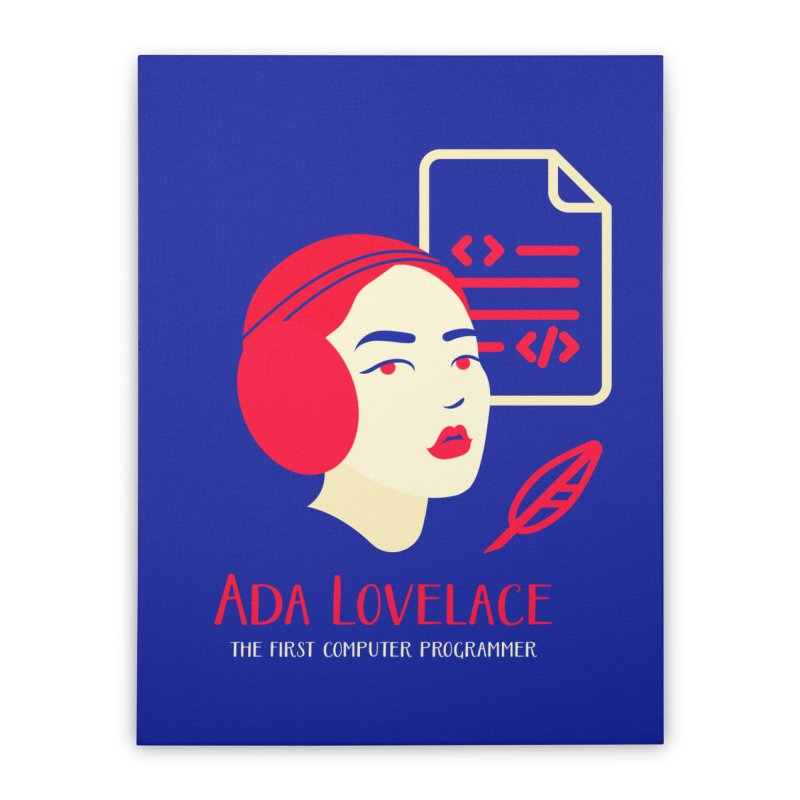 Ada Lovelace Home Stretched Canvas by Jana Artist Shop