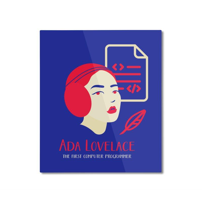 Ada Lovelace Home Mounted Aluminum Print by Jana Artist Shop