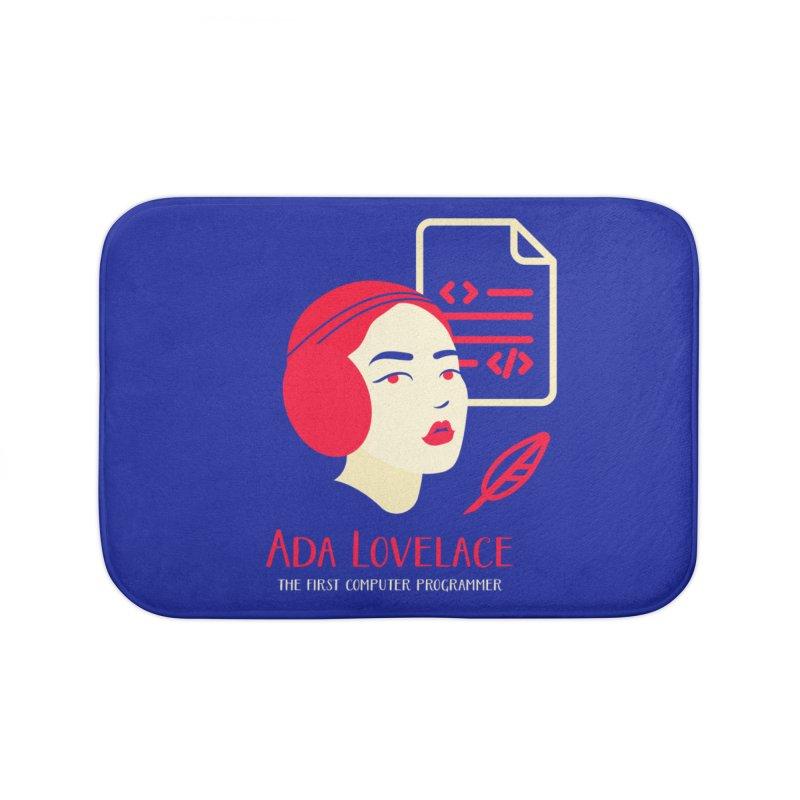 Ada Lovelace Home Bath Mat by Jana Artist Shop