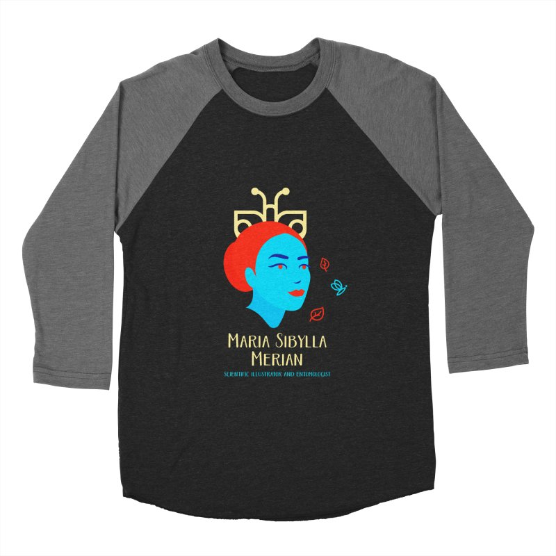 Maria Sibylla Merian Men's Baseball Triblend Longsleeve T-Shirt by Jana Artist Shop