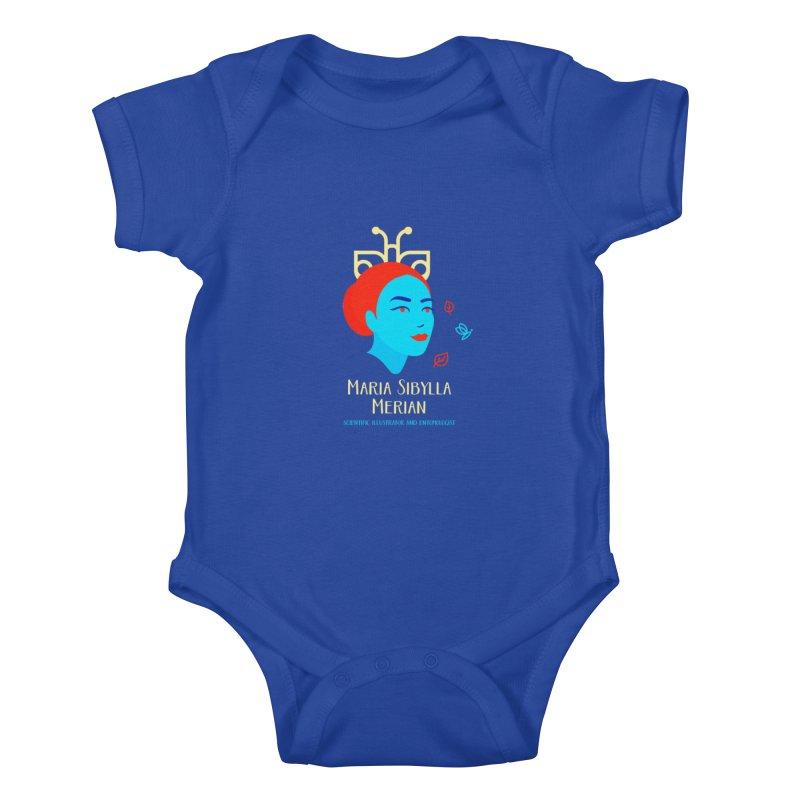 Maria Sibylla Merian Kids Baby Bodysuit by Jana Artist Shop