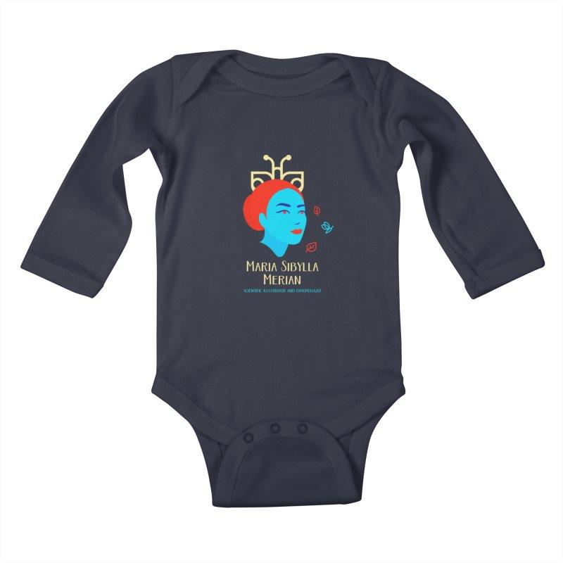 Maria Sibylla Merian Kids Baby Longsleeve Bodysuit by Jana Artist Shop