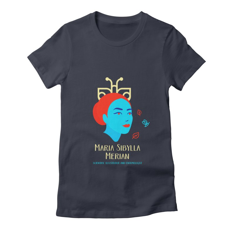 Maria Sibylla Merian Women's Fitted T-Shirt by Jana Artist Shop