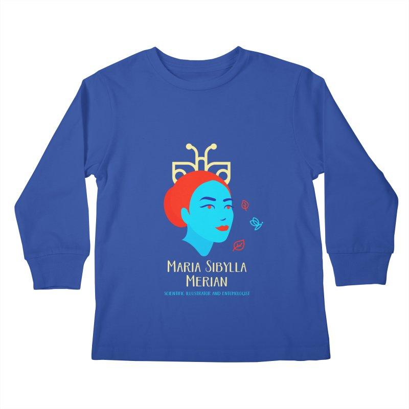 Maria Sibylla Merian Kids Longsleeve T-Shirt by Jana Artist Shop